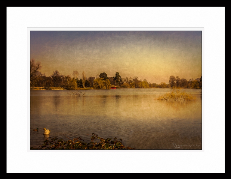 Hever Castle Lake - IMG_7874 - Framed