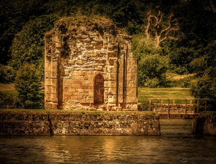 A photograph taken of the ruins at Bodiam Castle back in 2012