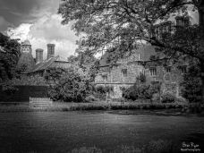 A photography of Bateman house in East Sussex.