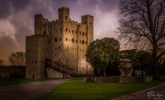 As the sun was setting on Rochester Castle in March 2017