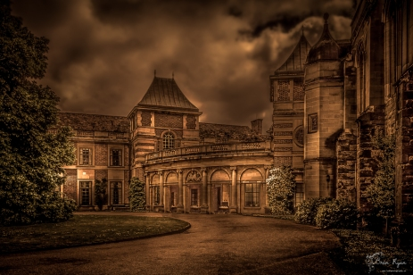 A photograph of the Palace at Eltham Palace Gardens in London.