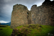 The walls of Old Inverlochy Castle.