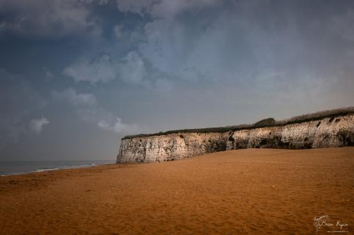 Deserted beach at Joss Bay in Kent