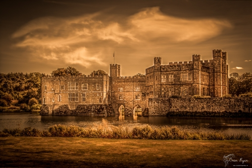 A photograph of Leeds Castle near Maidstone in Kent.