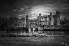 A photograph of Leeds Castle near Maidstone in Kent... with a replacement sky added in Photoshop.