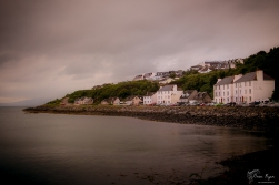 A photograph of the coastline taken at Mallaig, in Scotland.
