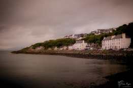 A photograph of the coastline taken at Mallaig, in Scotland.