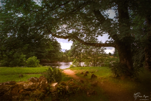 The grounds of Old Inverlochy Castle at Fort William