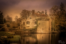 A photograph of Old Scotney Castle taken in the Spring of 2012.