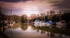 On the river at Allington Locks