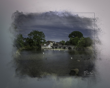 A photography of the River Avon taken at Fordingbridge in Hampshire and processed in a Powder Paint Effect