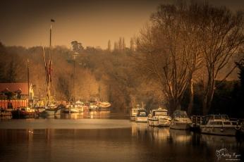 The River Medway at Allington Locks