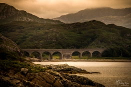 A photograph of a railway bridge taken as we travelled to Mallaig in Scotland