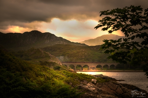 A photograph of an arched bridge taken on the A830 to Mallaig
