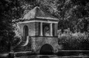A photograph of an ornamental bridge at Russell Gardens, near Kearsney Abbey, Temple Ewell in Kent