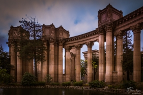 A photograph of the Palace of Fine Arts in San Francisco
