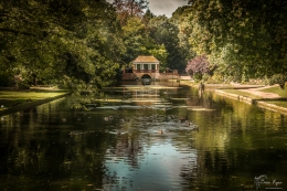 A photograph of one of the ornamental bridges at Russell Gardens, near Kearsney in Kent.