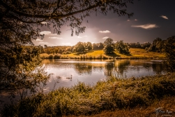 The lake at Leeds Castle