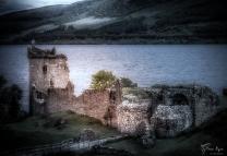 Urguart Castle, Loch Ness in Scotland.