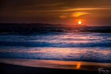 A photograph of the sun as it was setting at Monterey California