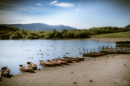Boating at Lakeside in Cumbria