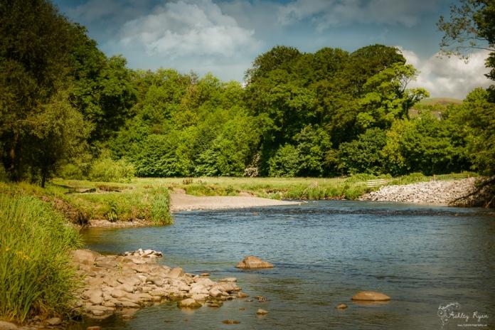 River Derwent at Cockermouth in Cumbria