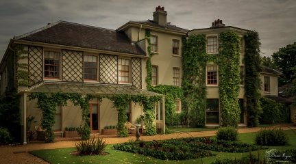 A photograph of the rear of Down House the former home of Charles Darwin.