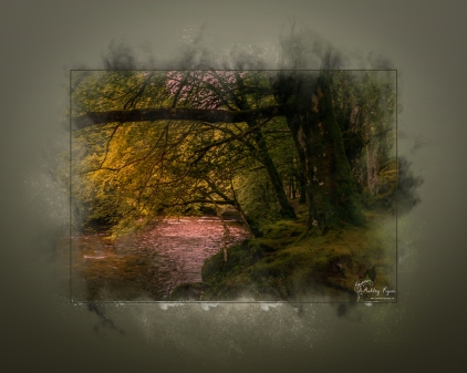 A photograph of the RIver Coe in Glencoe in Scotland processed with a Powder Paint Effect