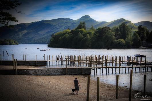 On the lakes at Lakeside near Keswick.