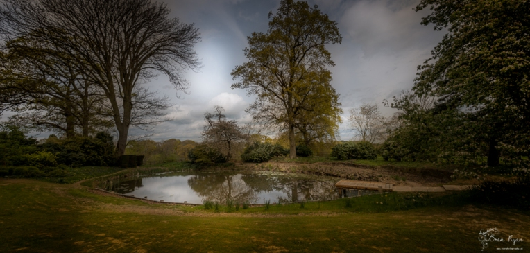 Panoramic of the Pond at Hole Park in Rolvenden