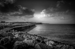 A photograph of the seafront at Reculver in Kent.
