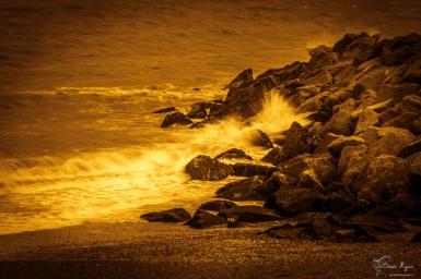 A photograph of Folkestone Beach taken by the Lower Leas Coastal Park
