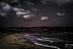 A photograph of the beach at Monterey California.
