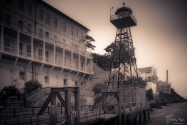 The watch tower at Alcatraz.