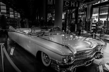 Photograph of a classic car taken at a mall in Los Angeles