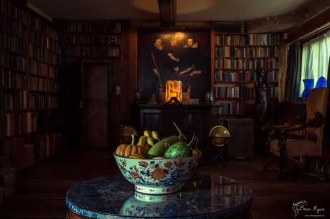 An interior photograph of one of the rooms at Sissinghurst Castle