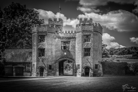 A photograph of the gatehouse at Lullingstone Castle near Eynsford in Kent.