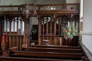 Inside the church at Lullingstone Castle