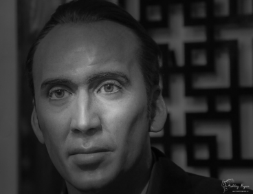 A waxworks of Nicholas Cage taken at Madame Tussauds in Las Vegas