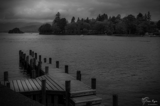 Photograph of a boat jetty at Lake Windermere in Cumbria
