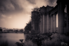 A photograph of the Palace of Fine Arts