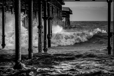 Under the pier at St Leonards on Sea