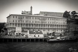 Photograph of the landing jetty at Alacatraz