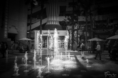 Water feature at the Mall on Hollywood Boulevard.