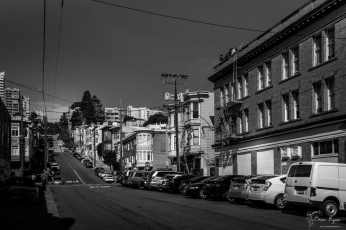 A photograph of one of the streets in San Francisco.