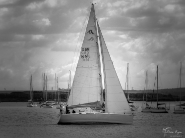 Yacht on the River Medway