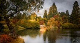 A photograph of the upper woman's way pond at Sheffield Park Gardens