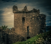 A photograph of Urquhart Castle located at Loch Ness in Scotland.