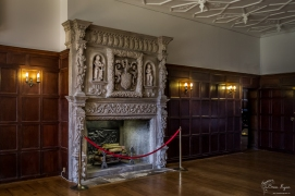 Fireplace at Wakehurst Place in West Sussex