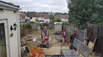 Clearing the garden